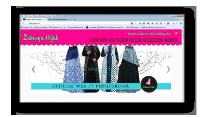 Portfolio zakeeyahijab.com